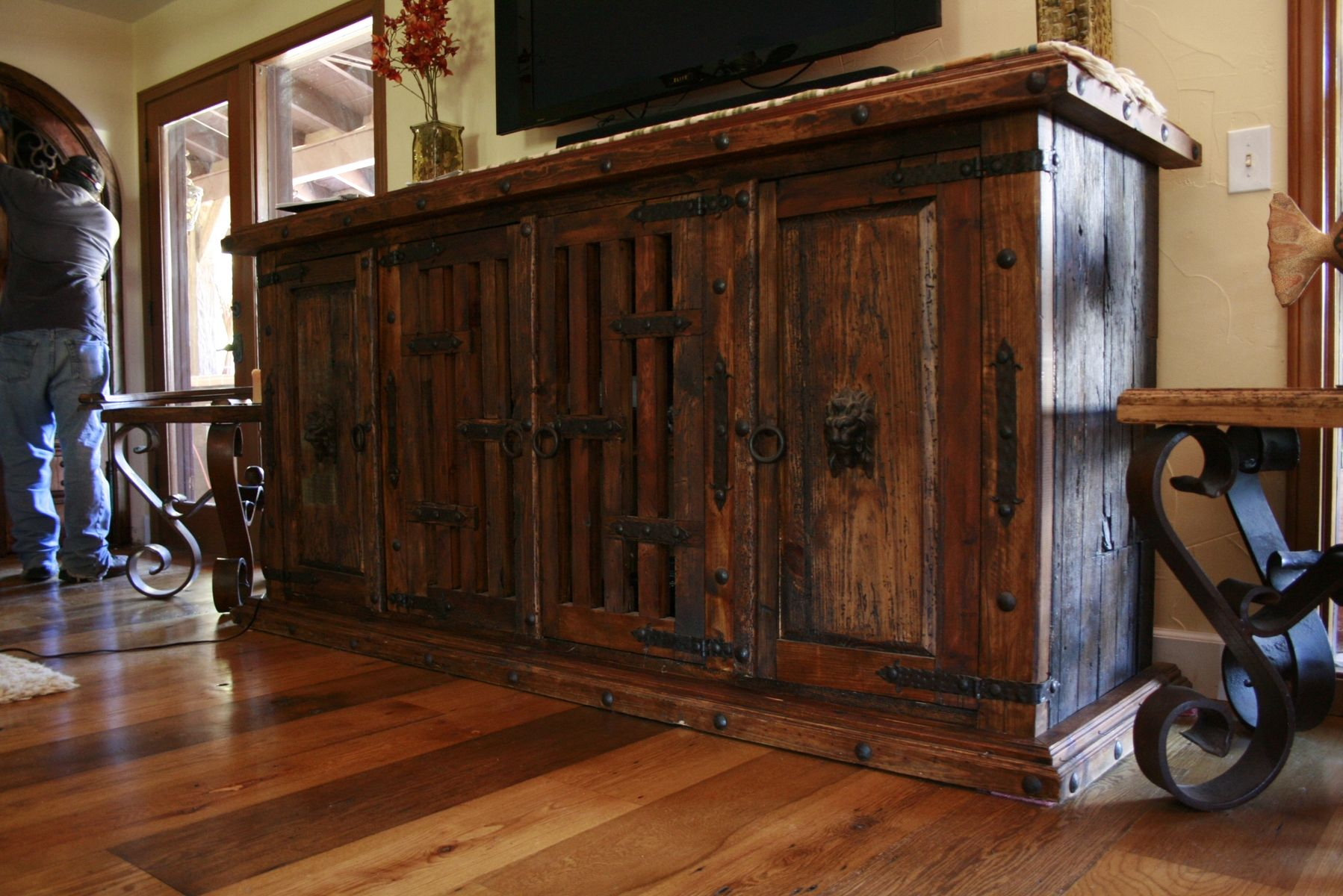 Hand Made Mesquite Buffet By Demejico Inc Manufactures Of Spanish Style Furniture Doors