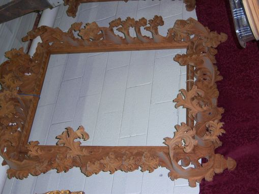 Custom Made Custom Carved Mirror Frame