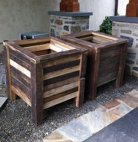 Made To Measure Bespoke Wooden Planters: Hand Made Reclaimed Planter By Left To Right Furniture