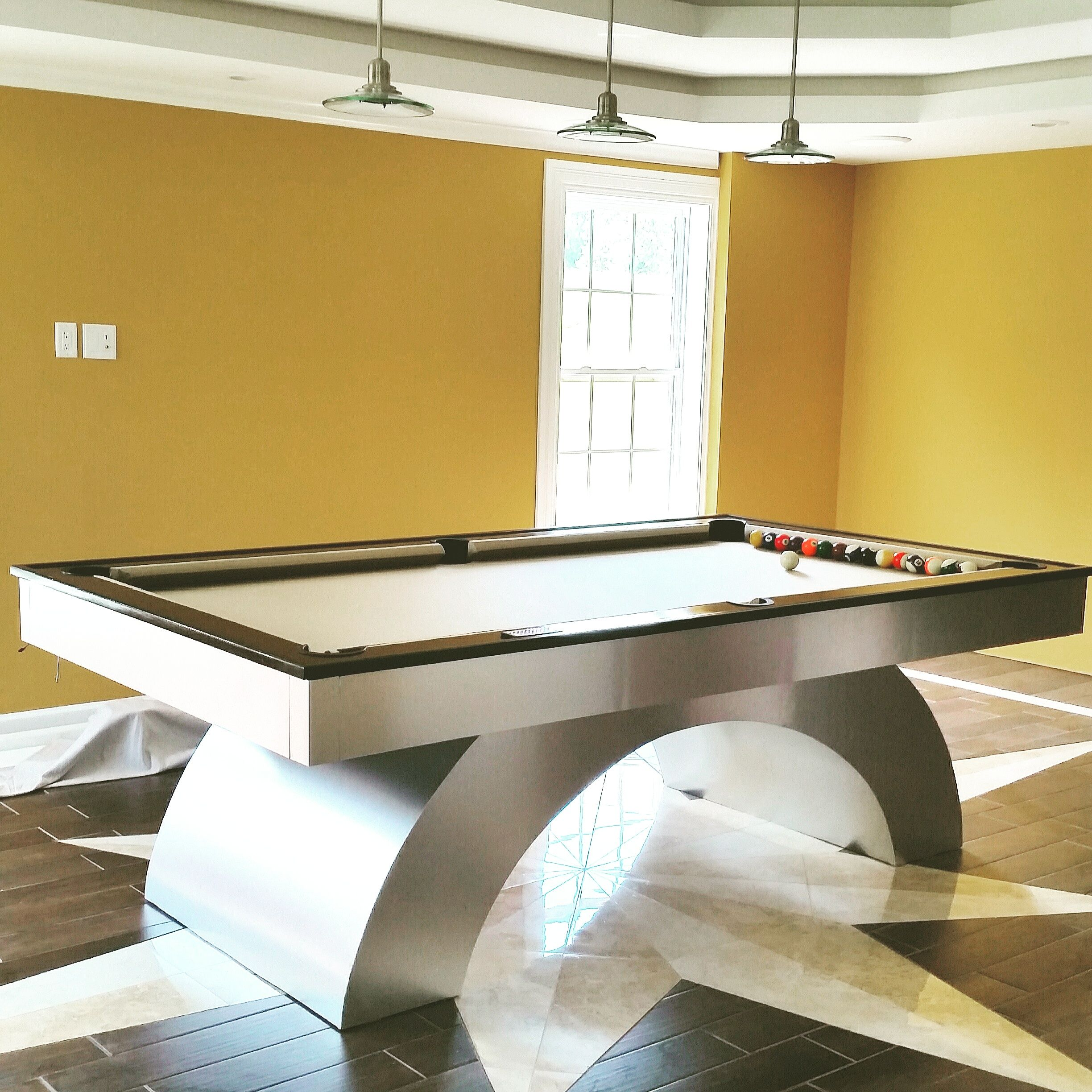 Buy Hand Crafted 8ft Arched Pool Table With Led Lights