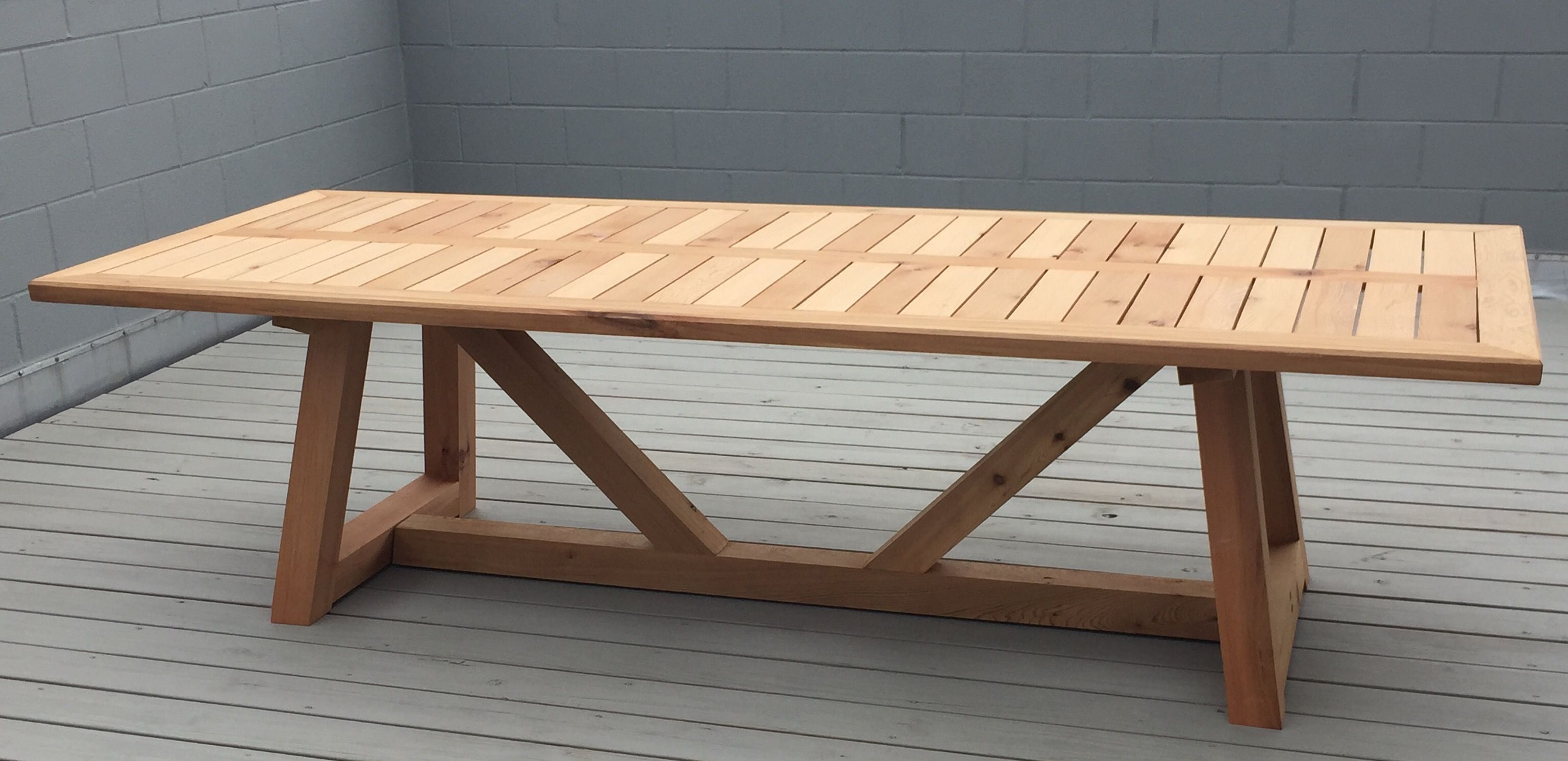 Hand Made Western Red Cedar Outdoor Dining Table By