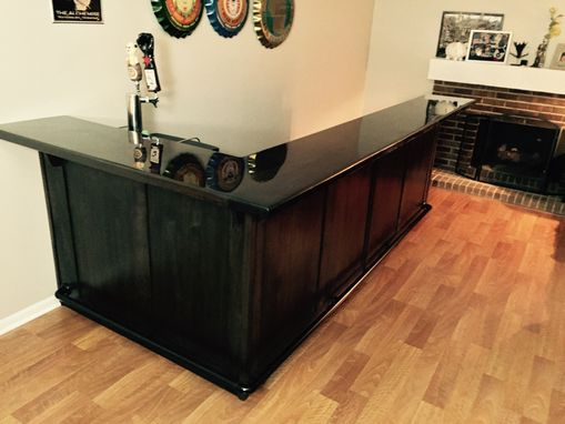 Hand Crafted Walnut In Home Bar By Black Beard Woodworking