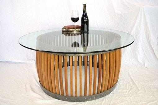 "Custom Made Craftsman - ""Capparis"" - Wine Barrel Table"