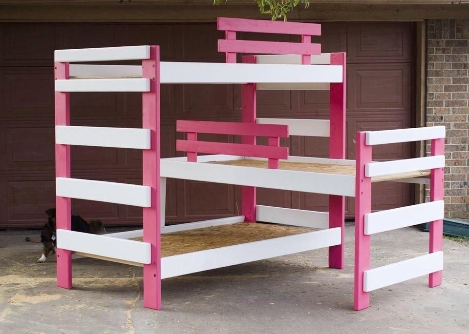 Hand Made Triple Bunk Bed By Masterss Touch Woodshop