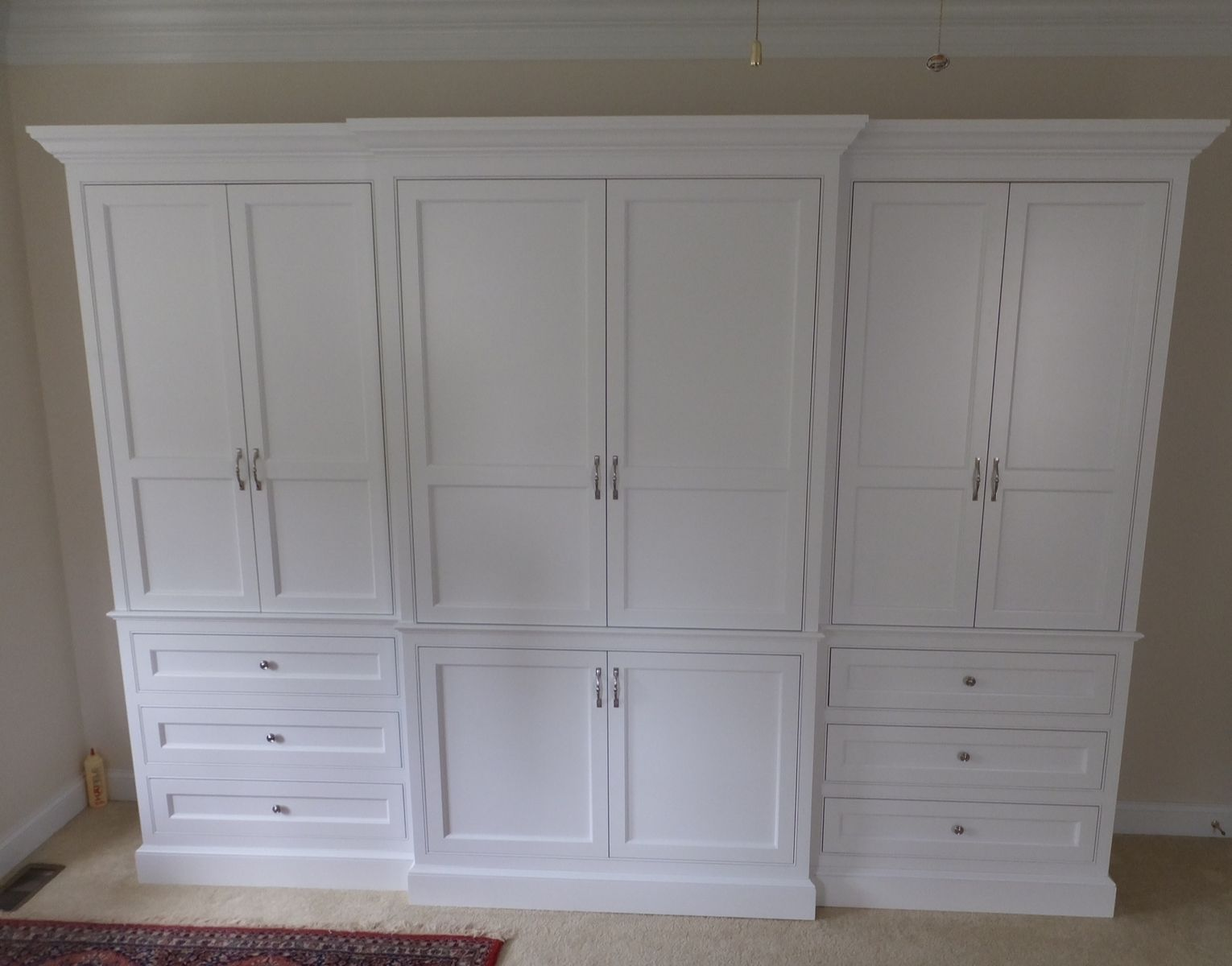 Custom made built in wardrobe armoire by j s woodworking for Armoire tv