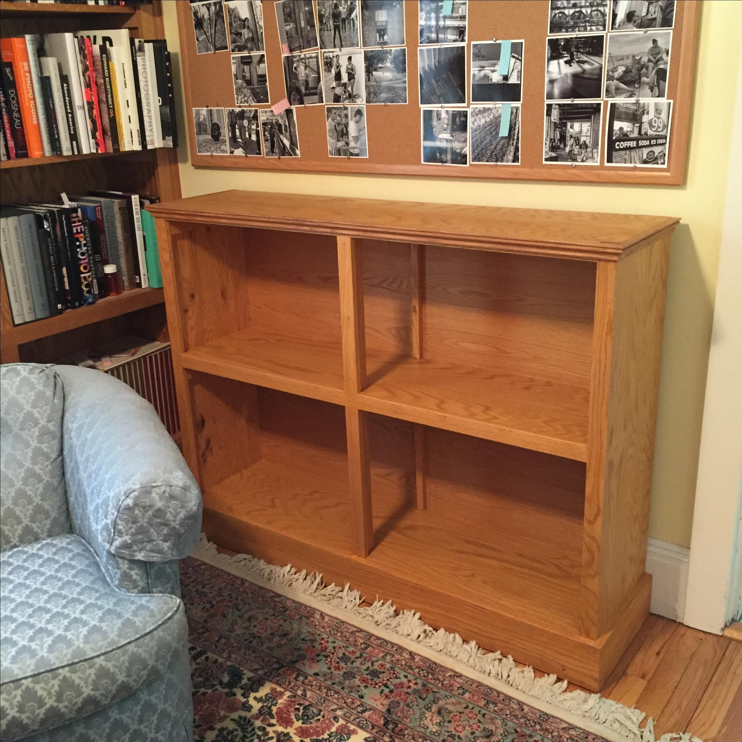 Hand Crafted Oak Bookcase By Maker Woodworker