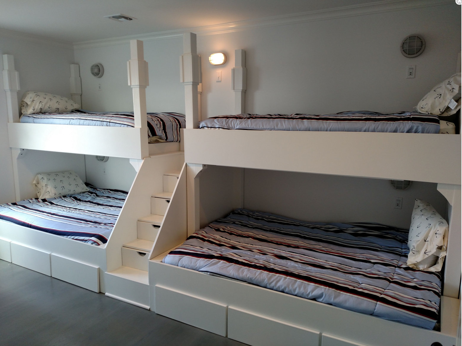 Buy a Handmade Queen And Twin Quad Bunk Bed With Step And ...