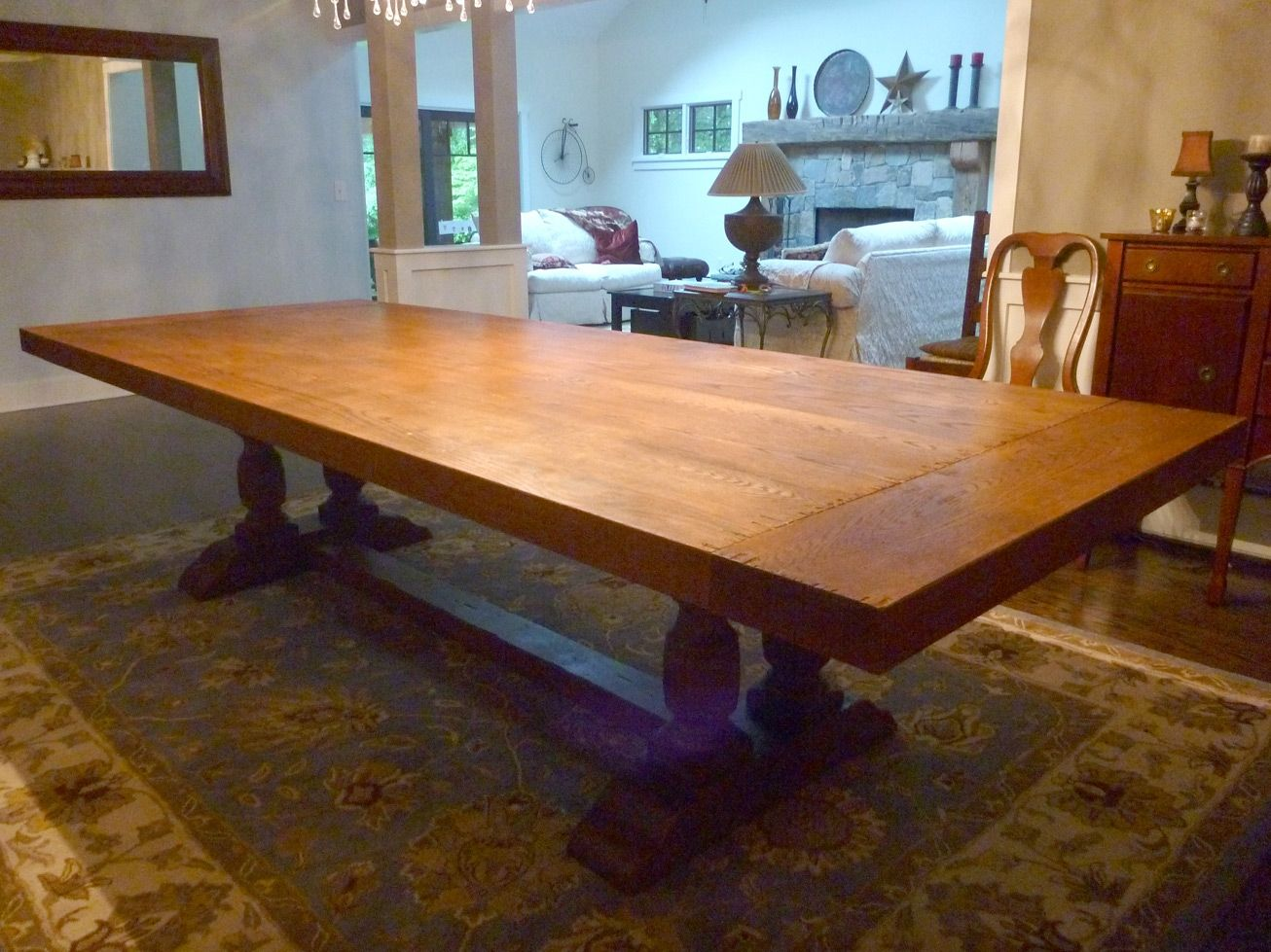 Hand crafted dining room table top by ajc woodworking for Images of dining room tables