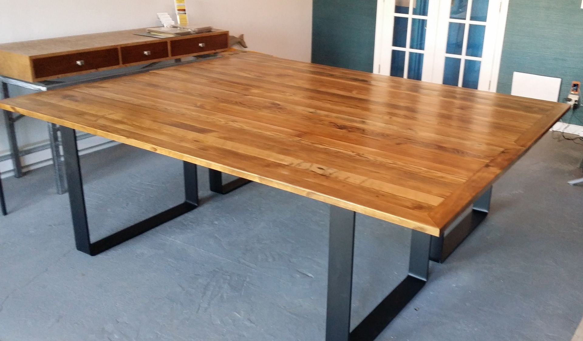 Custom Made Nyc Conference Room Table By Blue Marlin Home