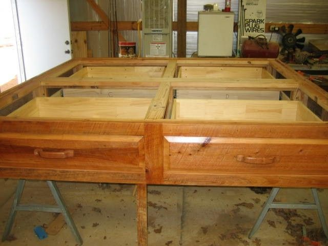 Custom Platform Bed Rustic Cypress Wood By Rockytop