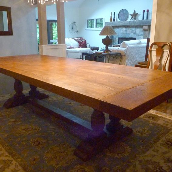 Custom Built Dining Room Tables: Hand Crafted Dining Room Table Top By AJC Woodworking
