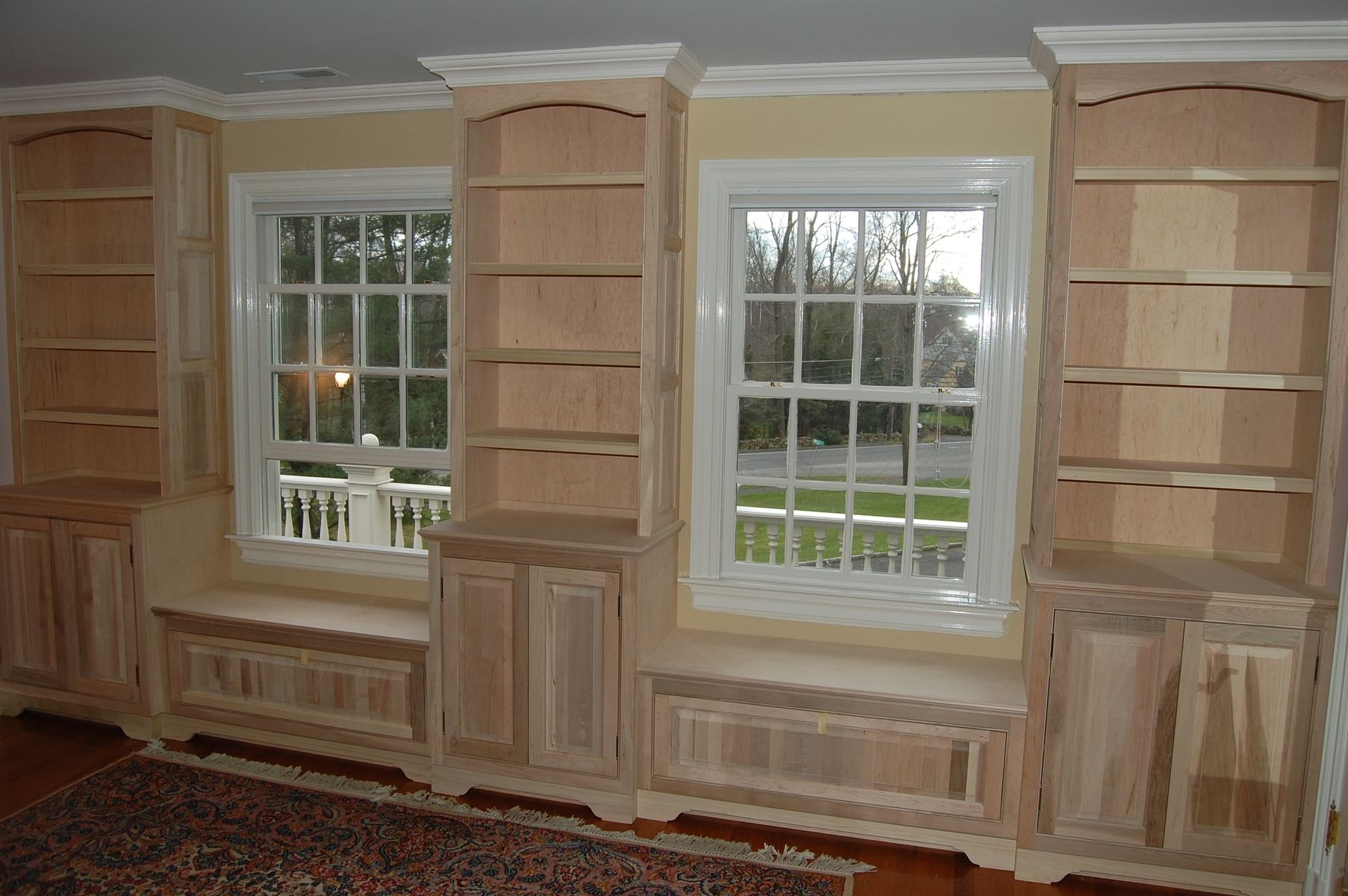 Hand made bedroom built ins by john samuel custom cabinetry - Custom made cabinet ...
