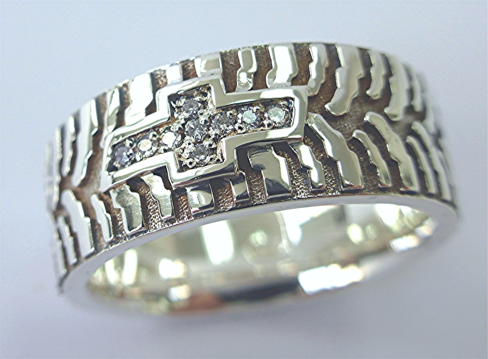 custom and silver tire ring by limpid jewelry inc