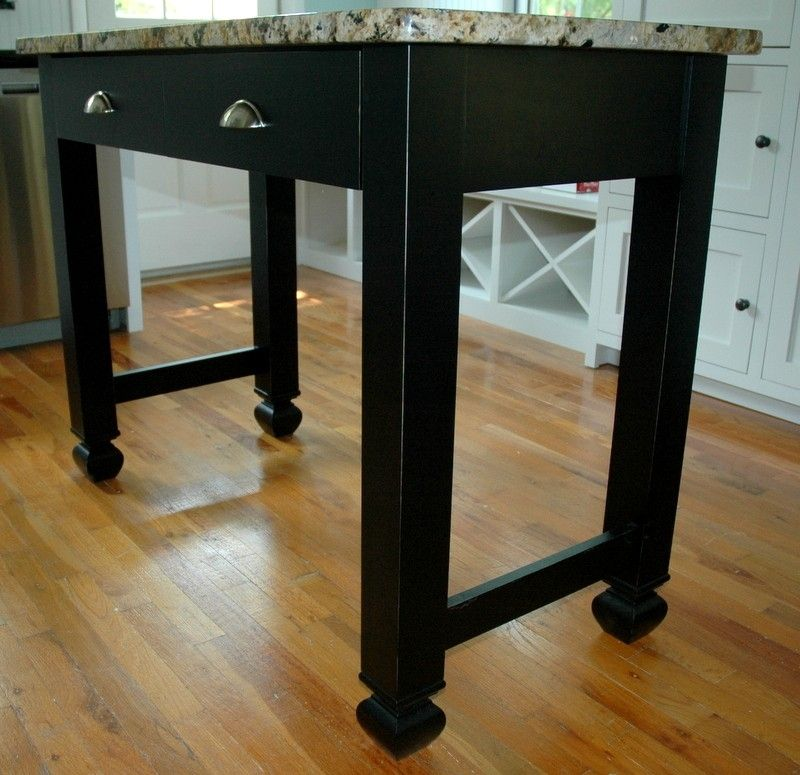 Black Kitchen Bench: Custom Black Kitchen Island Table Style By Custom Corners