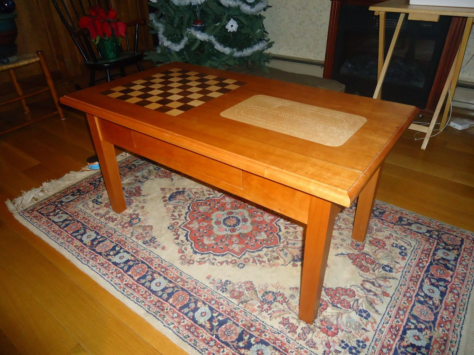 hand made chess cribbage coffee table by hitchcock