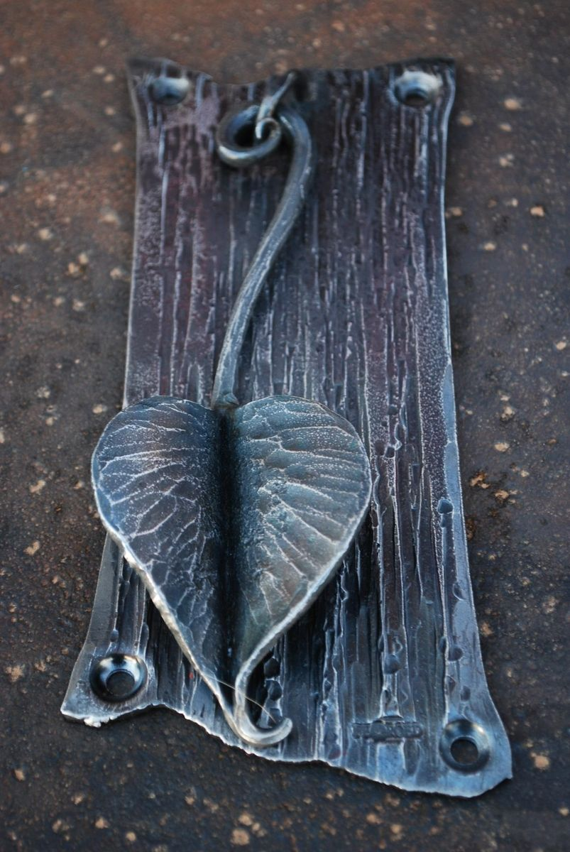custom knock or leaf door knocker by organic iron