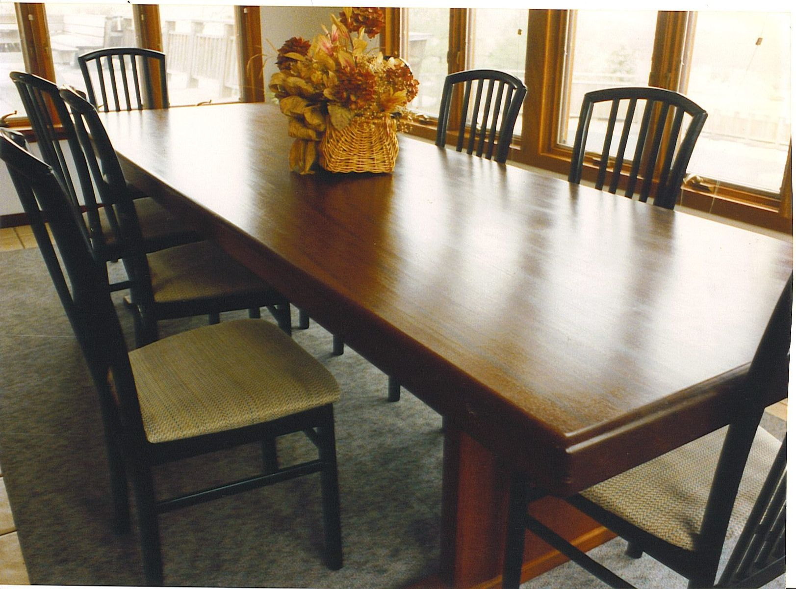 Hand made dining room table by cabinetmaker birdie miller for Custom dining room tables