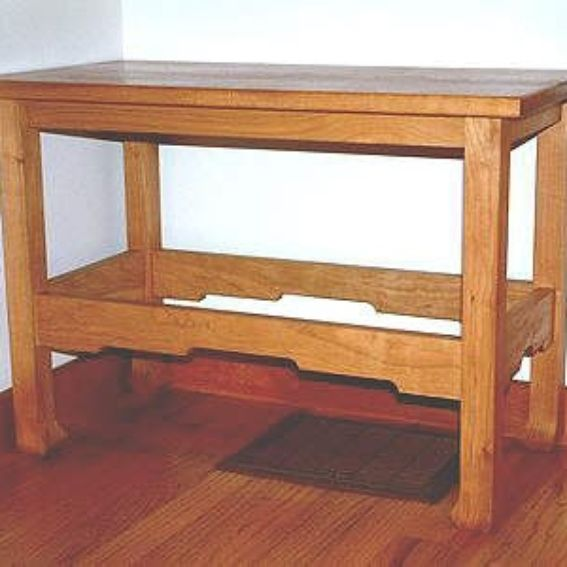 Hand Crafted Cherry Entry Bench By Property Vision Llc