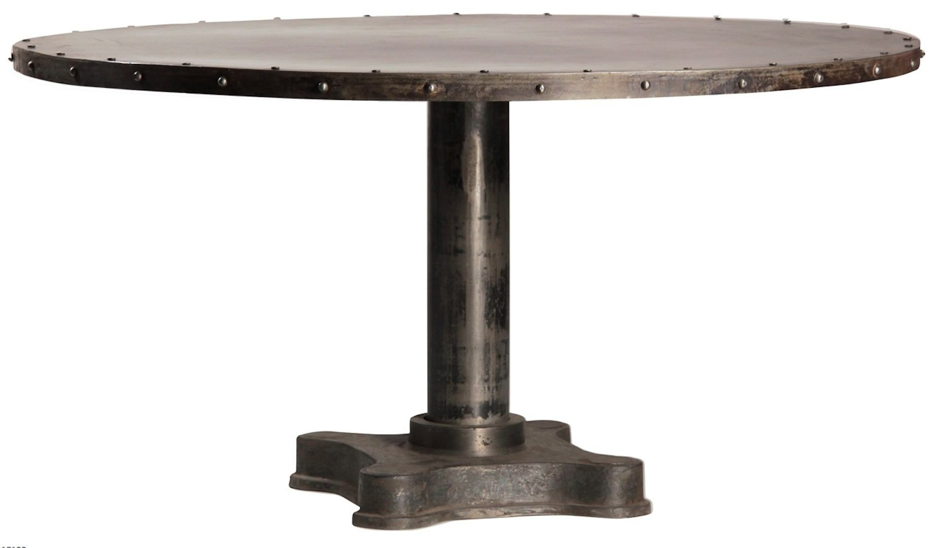 Buy a handmade viktor industrial solid metal and cast iron for Cast iron dining table