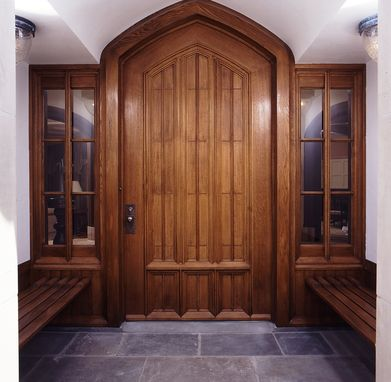 Custom Made Rift Oak Entry Door With Side Lites