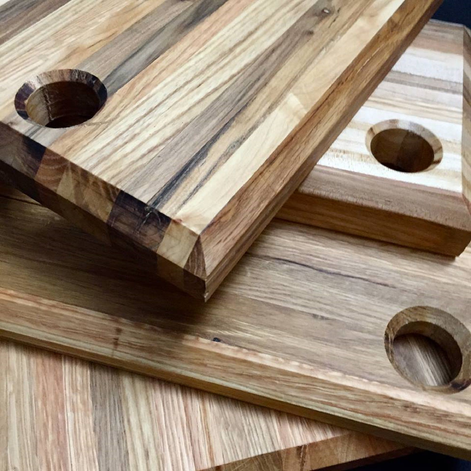 Custom reclaimed wood cutting board by artwood for Recycled wood board