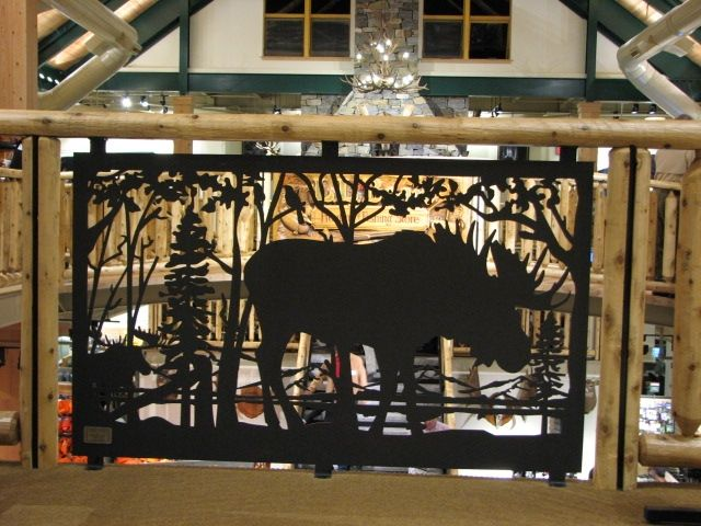 Hand Made Metal Art Railing For Balcony & Stair: Moose By