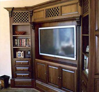 Custom Cherry Corner Entertainment Unit By Jmf