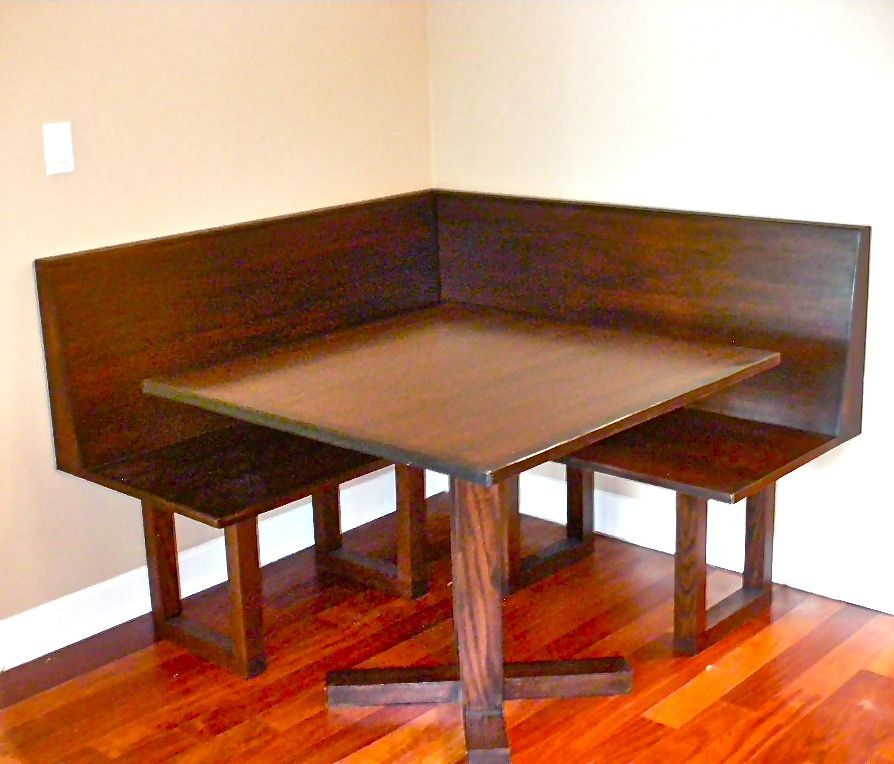 Dining Table With Banquette: Handmade Oak Bench Banquette And Dining Table By Hammer