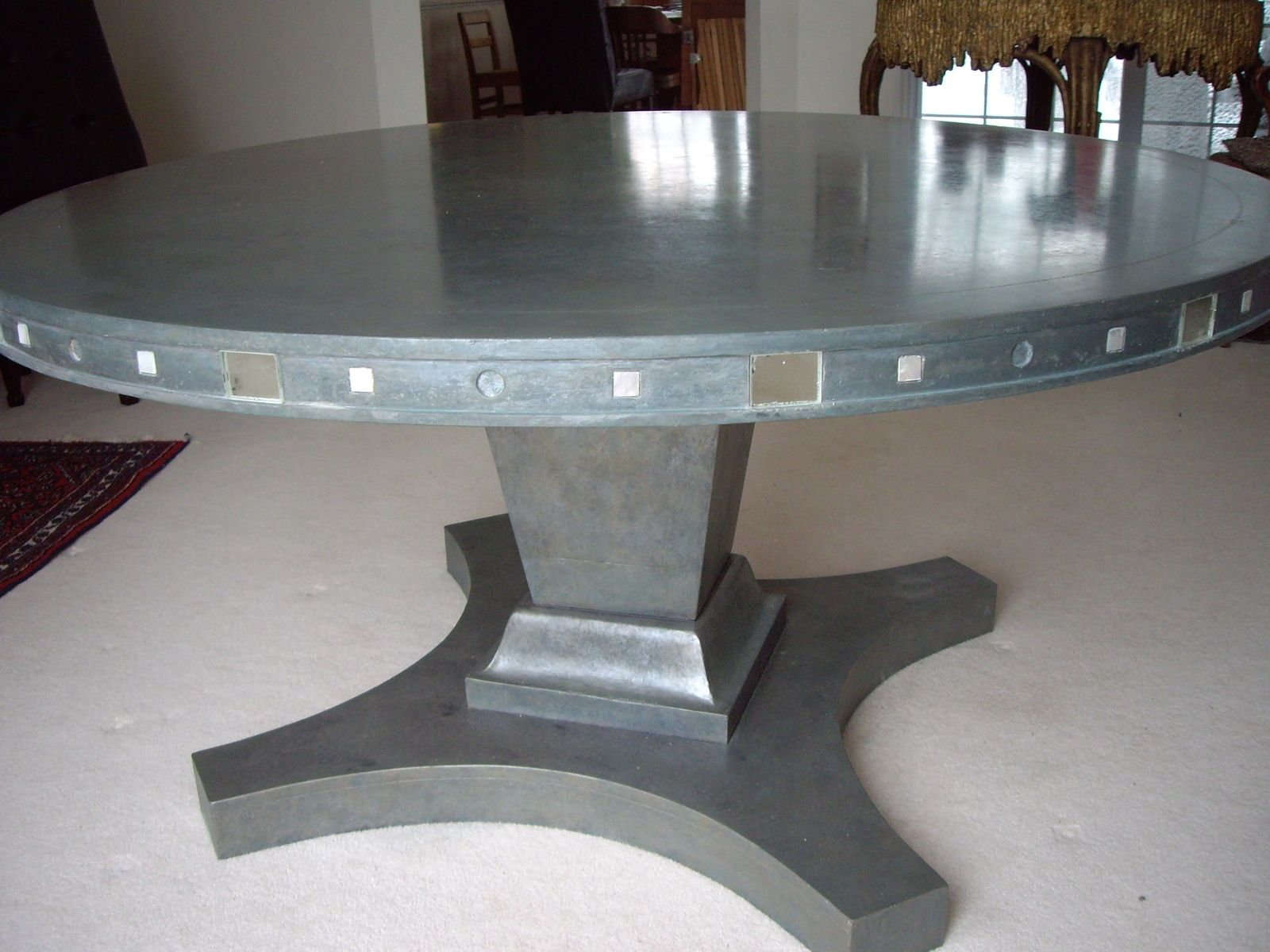 Dining Room Kitchen Dining Tables Round Concrete Dining Table