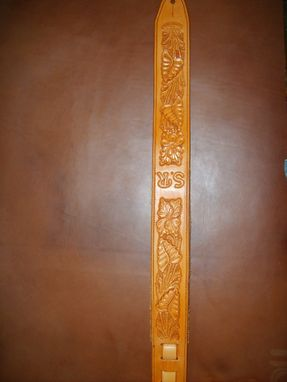 Custom Made Sheridan Style Hand Carved Guitar Strap