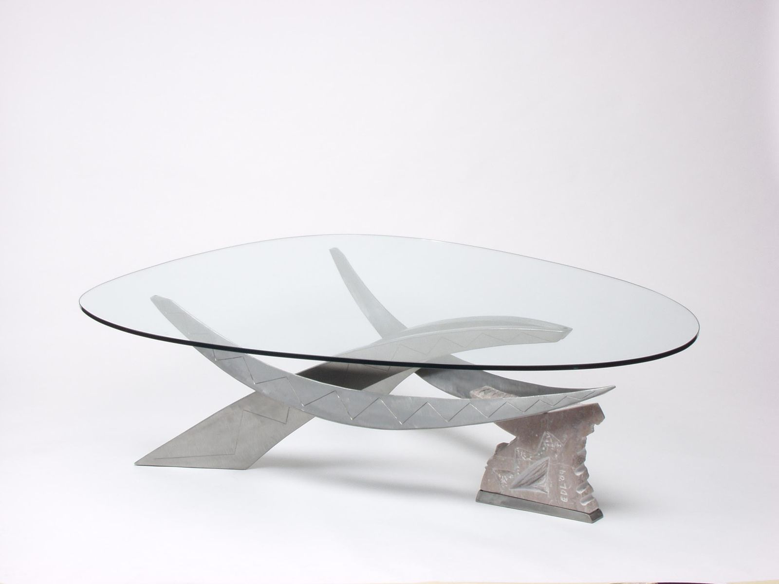 Hand Made Cantilever Coffee Table By Eric David Laxman
