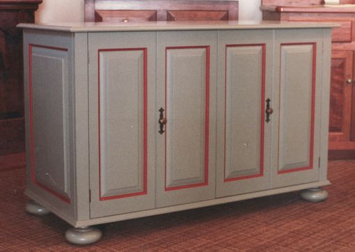 Custom Made Accent Painted Tv Cabinet