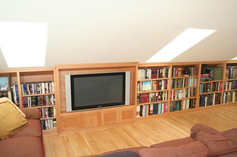 Custom Made Beech Tv Cabinet And Bookcases By Dee 39 S