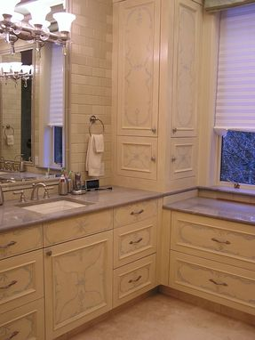 Custom Made Hand Painted/Embellished Master Bedroom And Bathroom Cabinets