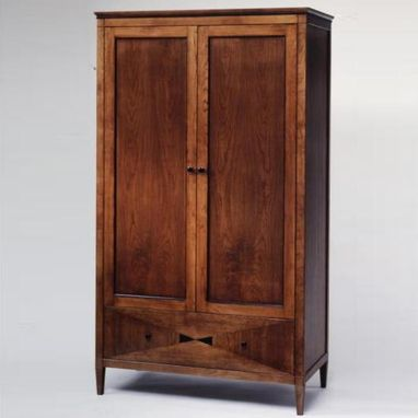 custom made bowtie cherry armoire in new york ny by. Black Bedroom Furniture Sets. Home Design Ideas