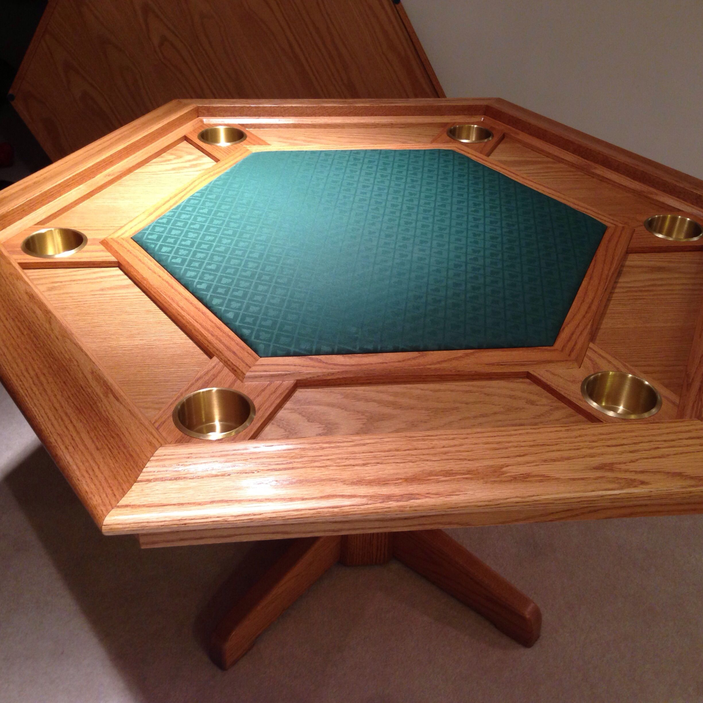 Hand Made Oak Poker Table By Cjs Woodworks Custommade Com