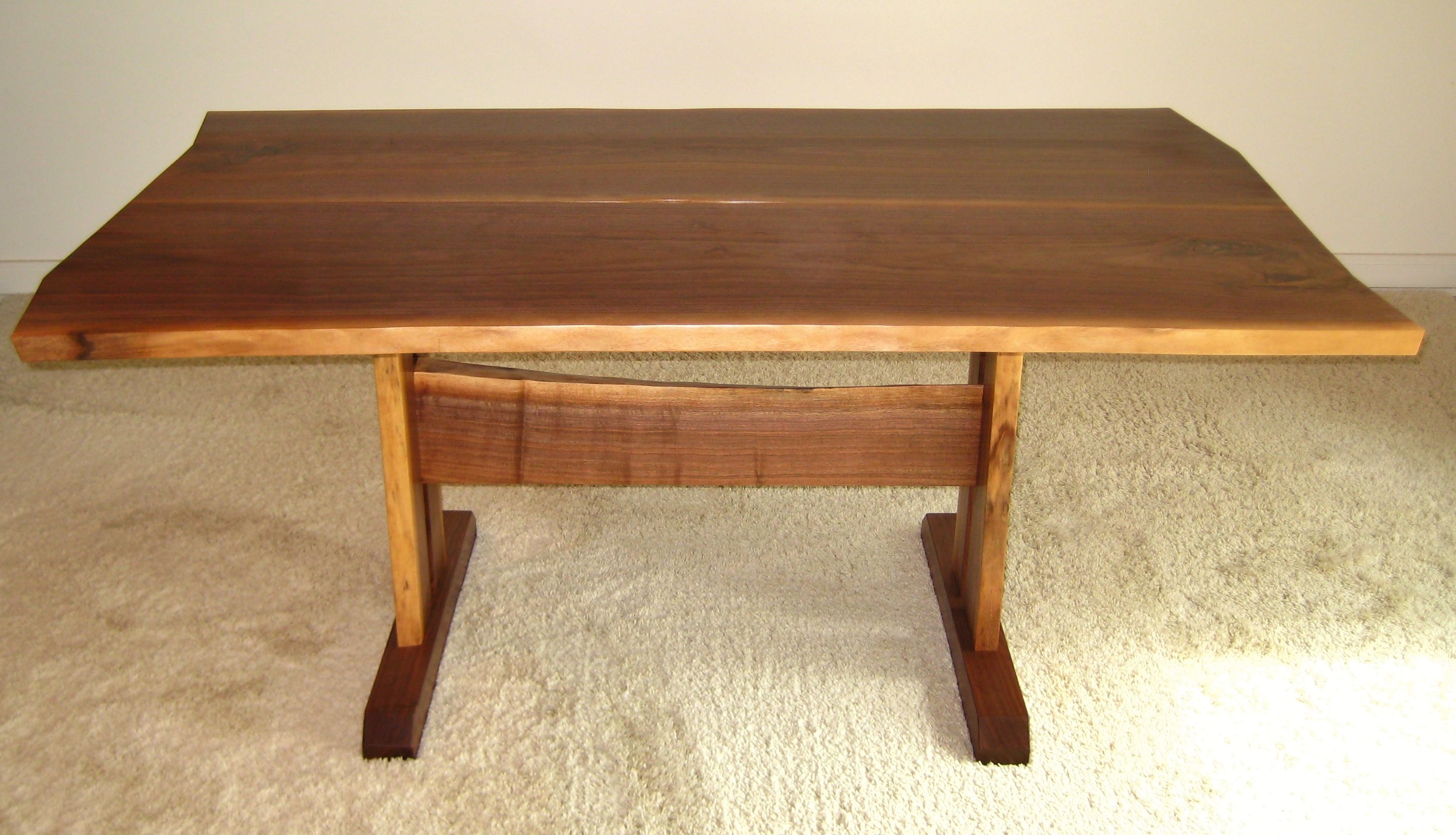 Natural Edge Timber Dining Table: Custom Walnut Natural Edge Dining Table By Greg Wood