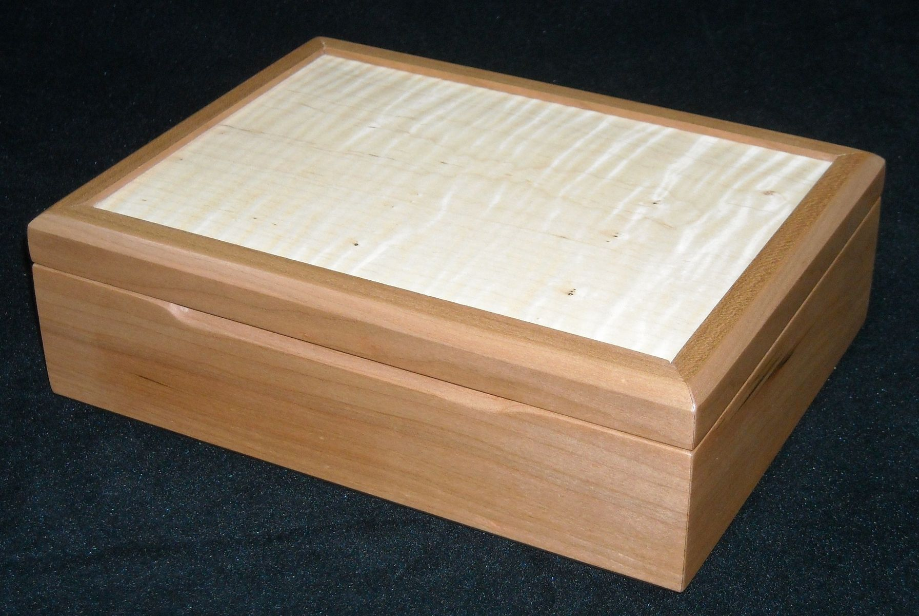 Bedroom Furniture Tucson Az Handmade Cherry And Curly Maple Jewelry Box By Mitchell