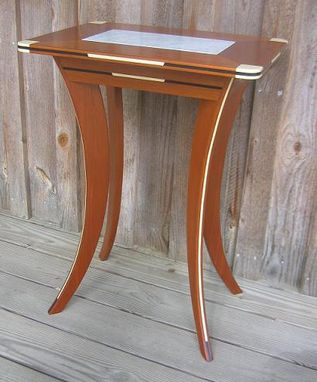Custom Made Marble Top Accent Table