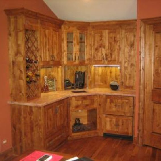 Knotted Oak Kitchen Cabinets: Handmade Knotty Alder Kitchen Cabinets