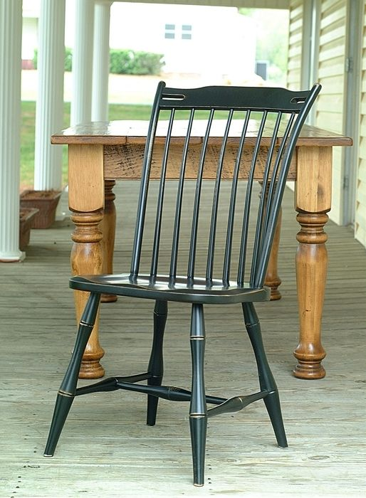 Set Of 6 Thumb Back Dining Room Chairs