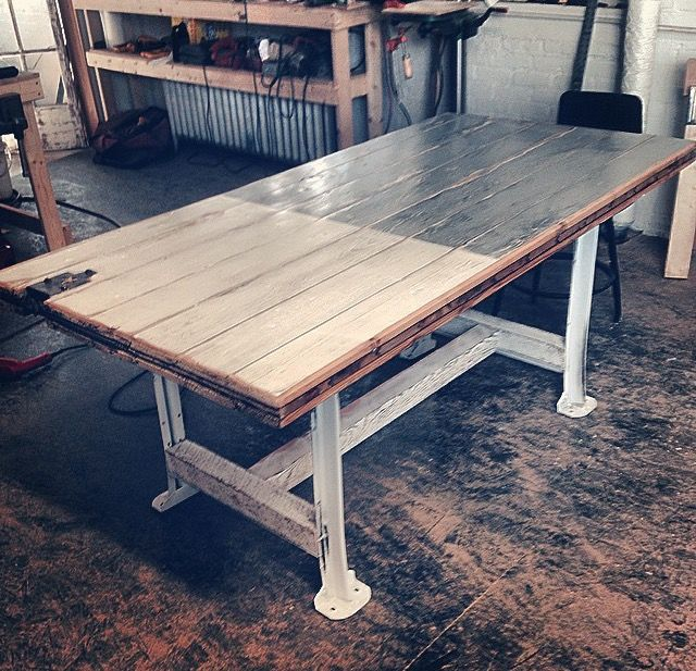 Buy a hand made barn door table made to order from norman for Cramer furniture