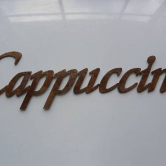 Kitchen Decor Words: Hand Crafted Cappuccino Word Metal Wall Art Kitchen Decor