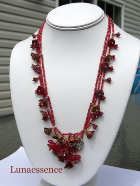 Custom Made Victorian Floral Bouquet Necklace Made To Order