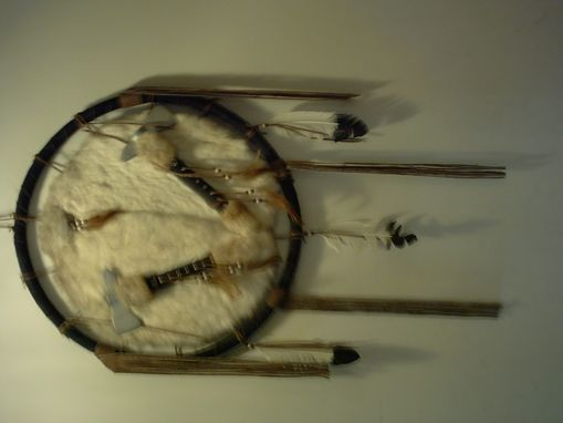Custom Made Custom Leather Dream Catcher With Hammers