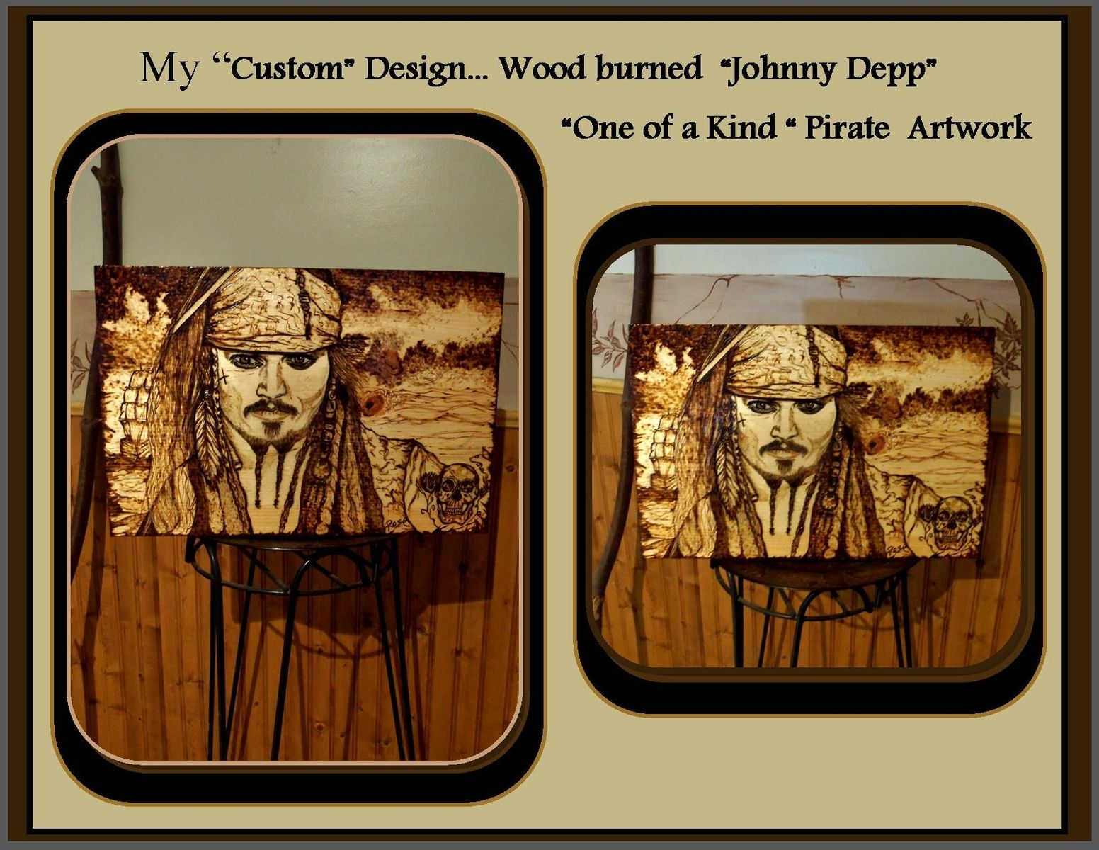 Man Cave Gift Ideas Canada : Buy custom johnny depp pirates of the carribbean art