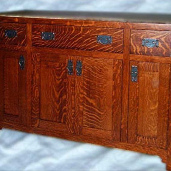 Custom made solid oak mission style vanity by chesapeake cabinet and woodworks for Mission style bathroom vanity