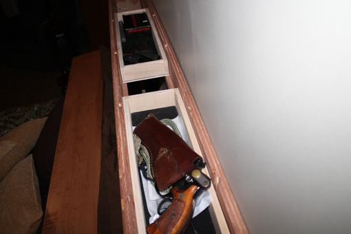 Custom Made Gun Bed With Hidden Compartment