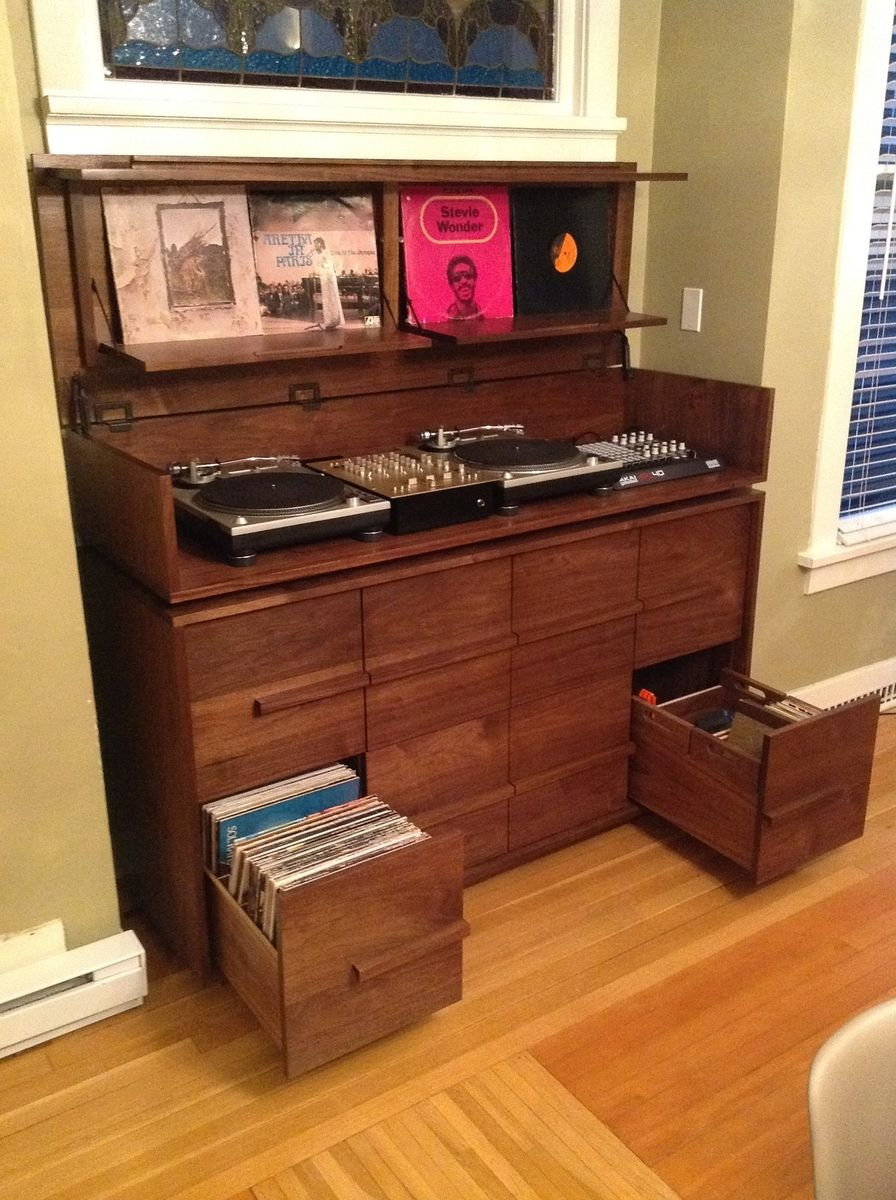 Hand Made Sorenson Record Cabinet By Joe Joe Built It