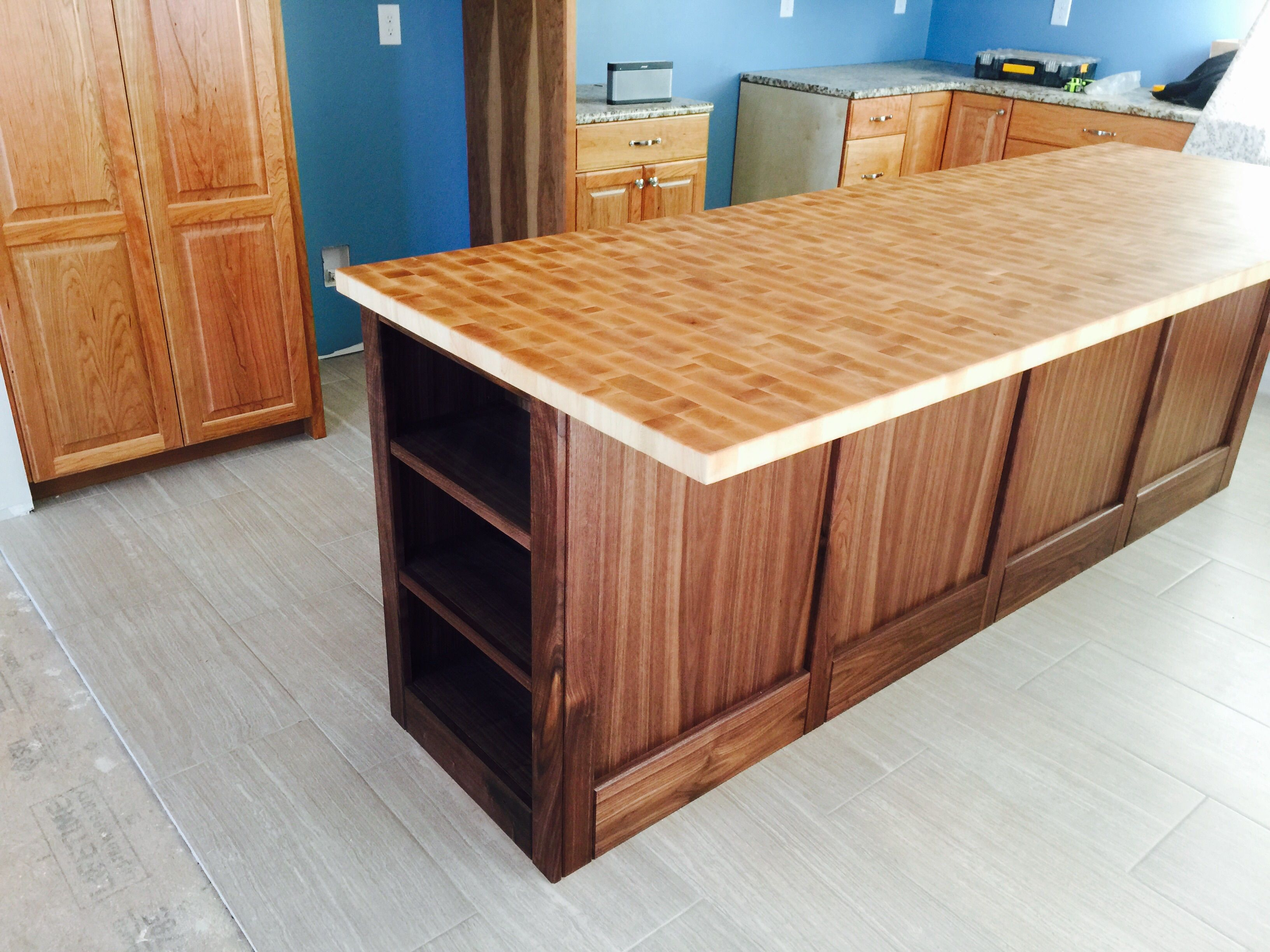 buy a custom butcher block kitchen island made to order